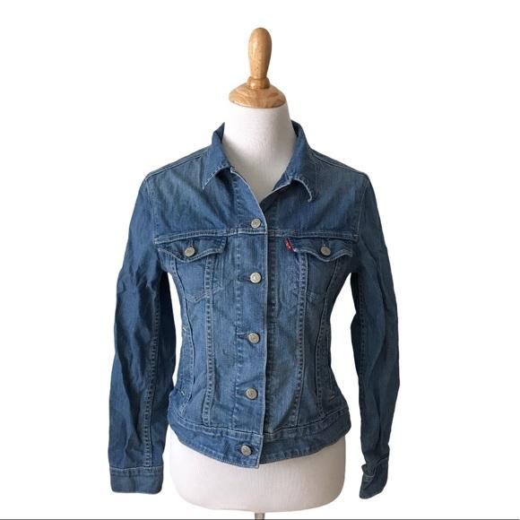 Levi's Denim Trucker Jeans Jacket Sz S